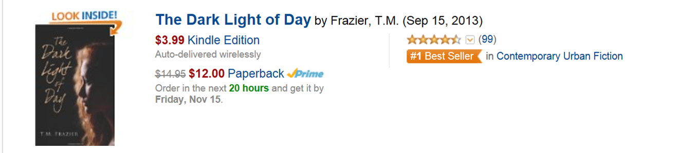 The Dark Light of Day by T.M. Frazier
